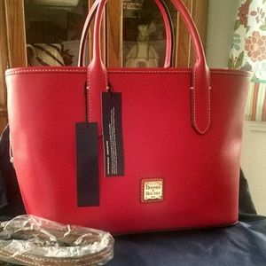 NWT Dooney & Bourke Pebble Grain Brielle Satchel